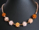 Golden bead clusters necklace instructions