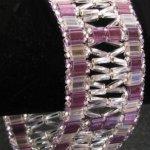 Violet Tila and Twist windows Bracelet kit