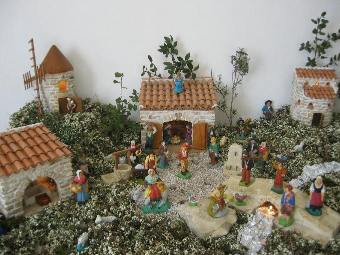 Clay Nativity Creche And Figures