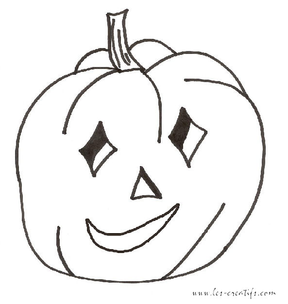 Halloween pumpkin coloring