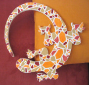 DIY Mosaic lizard