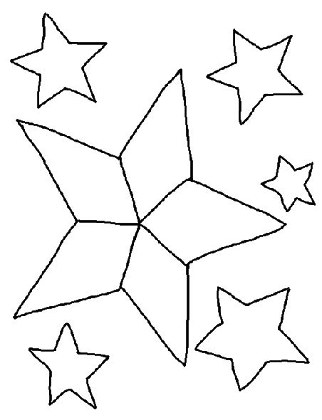 Christmas star coloring