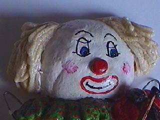 Salt dough clown
