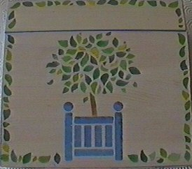Painting on wood by stencil or brush - Painting with stencils on wood ...