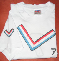 soccer strip painting on t-shirt