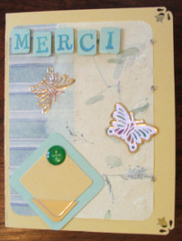 scrapbooking techniques card